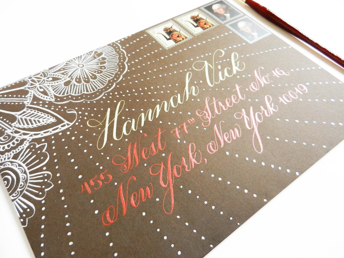 A Guide to Using Metallic and Gold Calligraphy Inks | The Postman's Knock