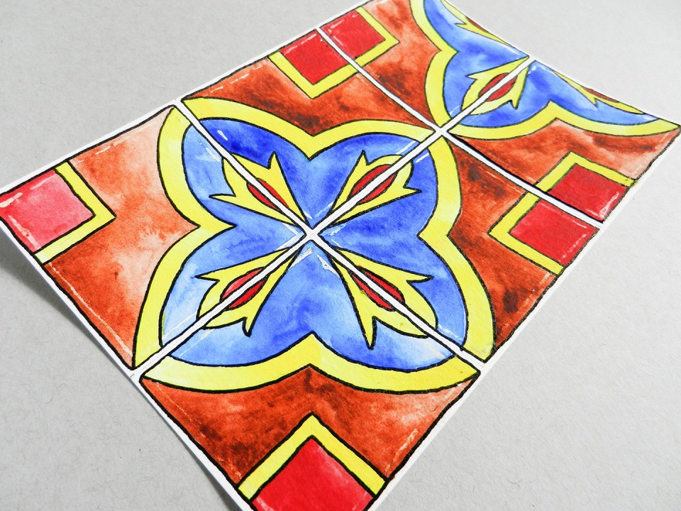 Hand-Painted Tiles Illustration Tutorial | The Postman's Knock
