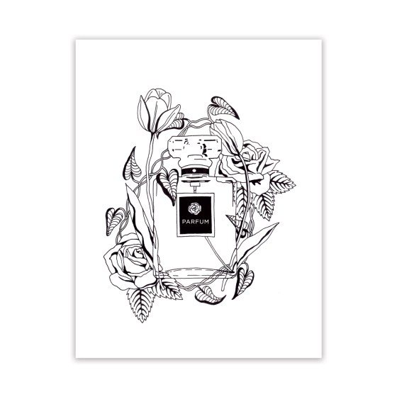 Free Adult Coloring Page: Parfum et Fleurs | The Postman's Knock