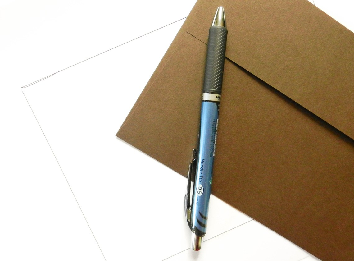 DIY Envelope Stencil for Perfect Spacing   The Postman's Knock
