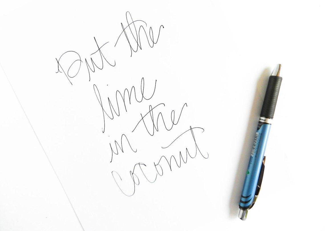 Simple Modern Brush Lettering Tutorial   The Postman's Knock
