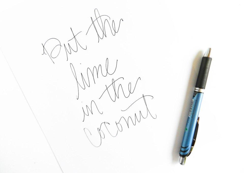 Simple Modern Brush Lettering Tutorial | The Postman's Knock