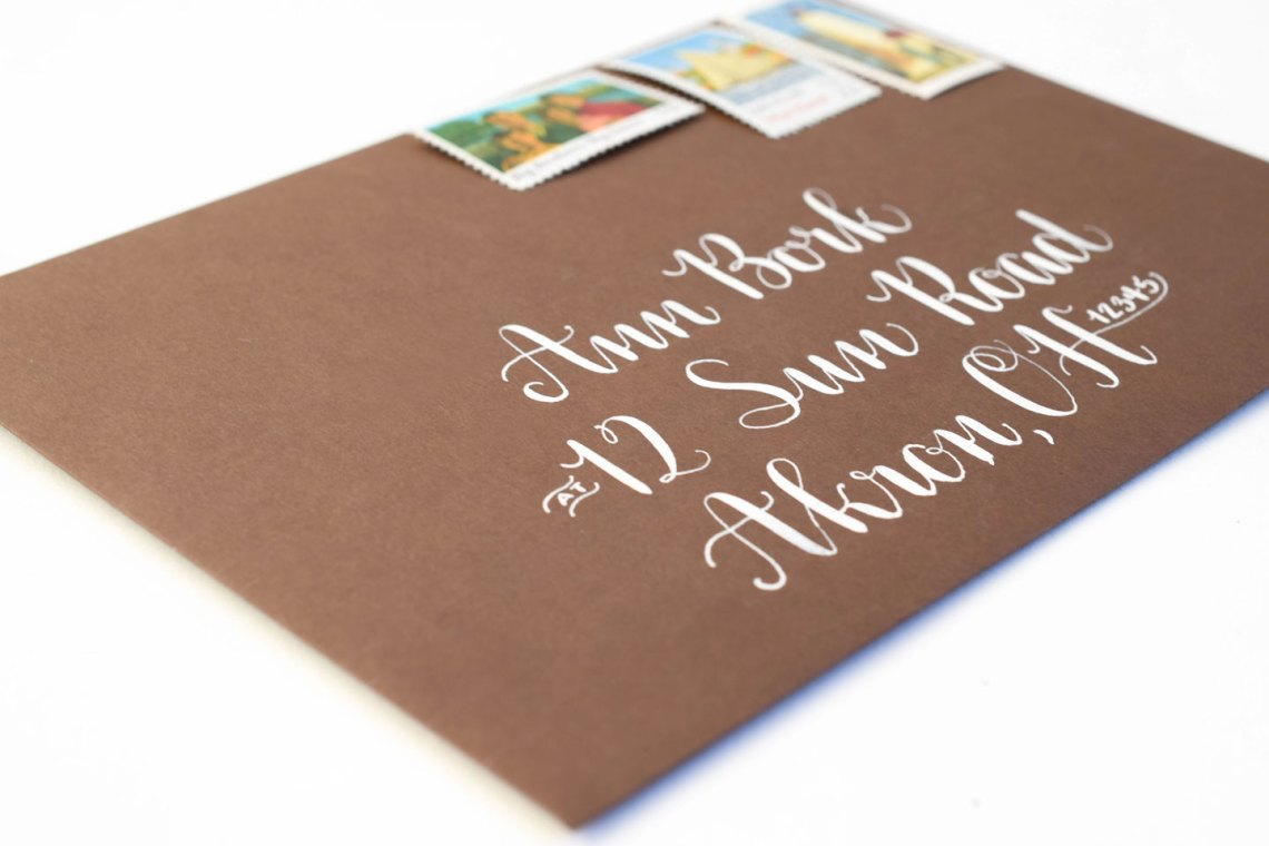 Amy Style Calligraphy Envelope   The Postman's Knock