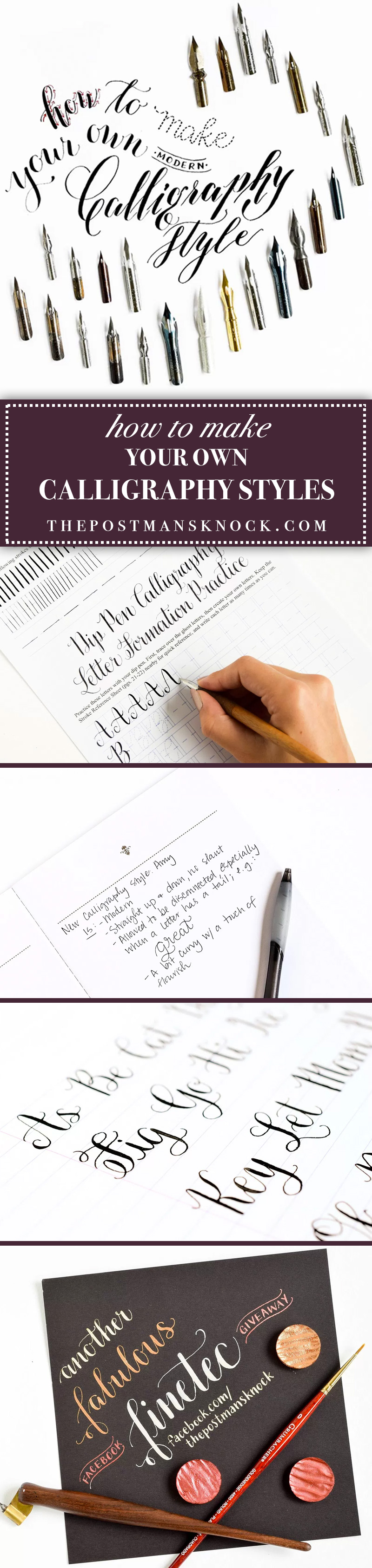 How to Make Your Own Calligraphy Styles | The Postman's Knock