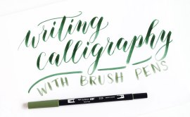 Writing Calligraphy with Brush Pens | The Postman's Knock