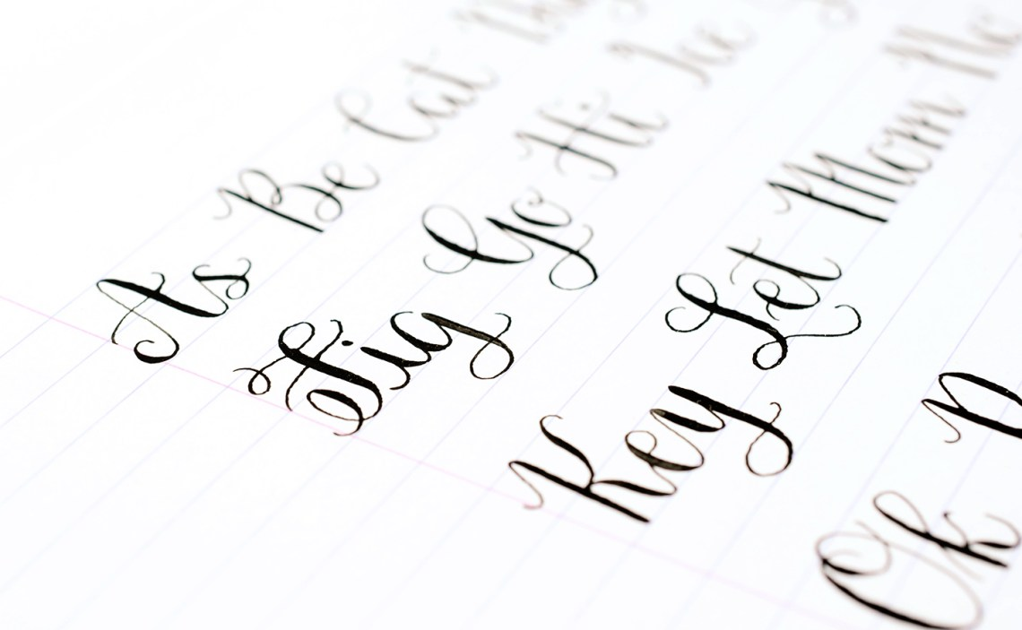How to make your own calligraphy styles the postman s knock