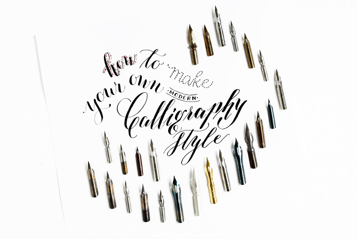 How to Make Your Own Modern Calligraphy Styles | The Postman's Knock
