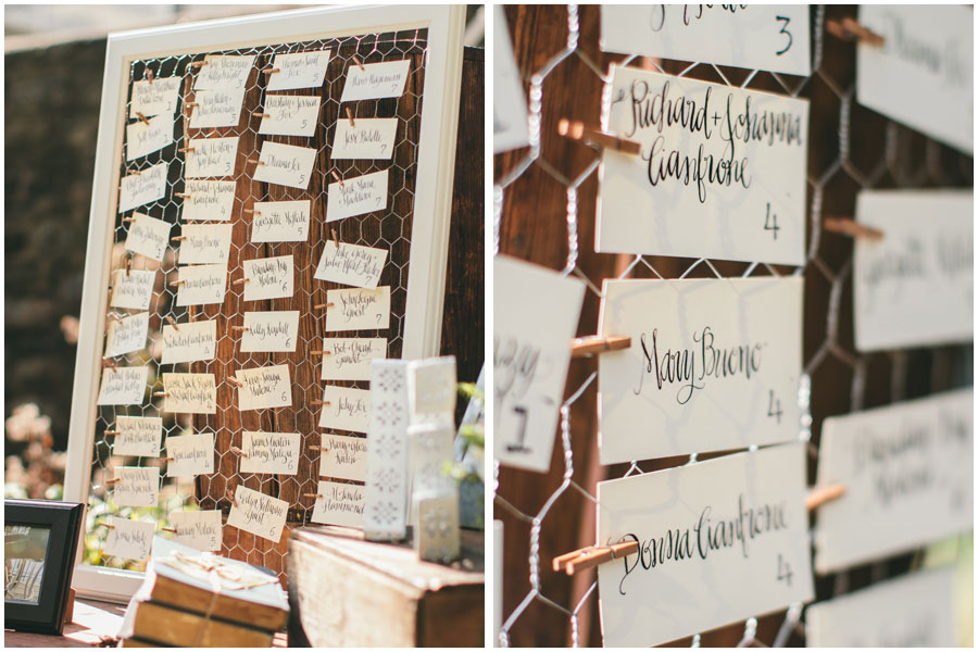 Escort Cards in Amy Style | The Postman's Knock