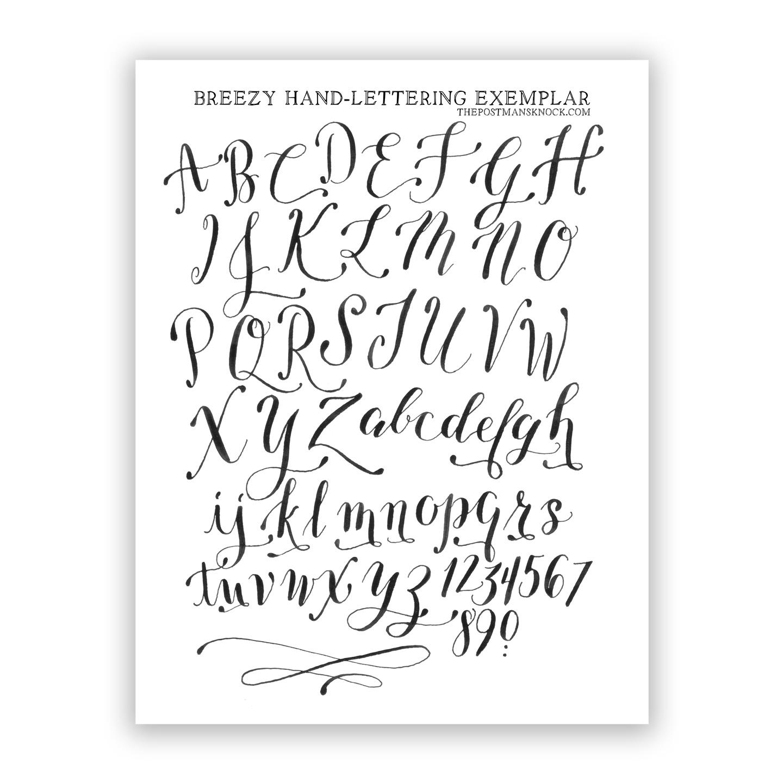 Free Basic Breezy Hand-Lettering Exemplar