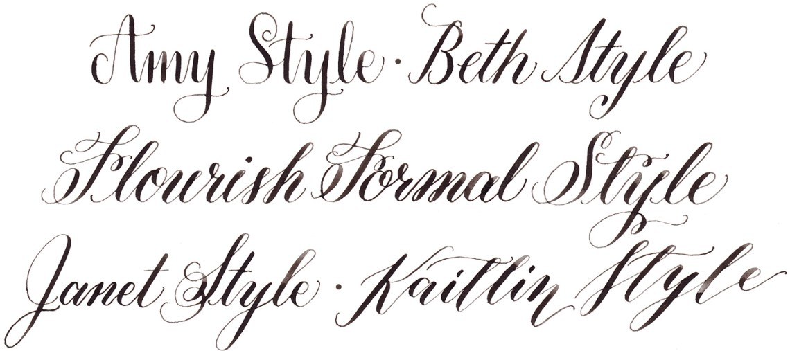 A Guide to TPK Calligraphy Styles   The Postman's Knock