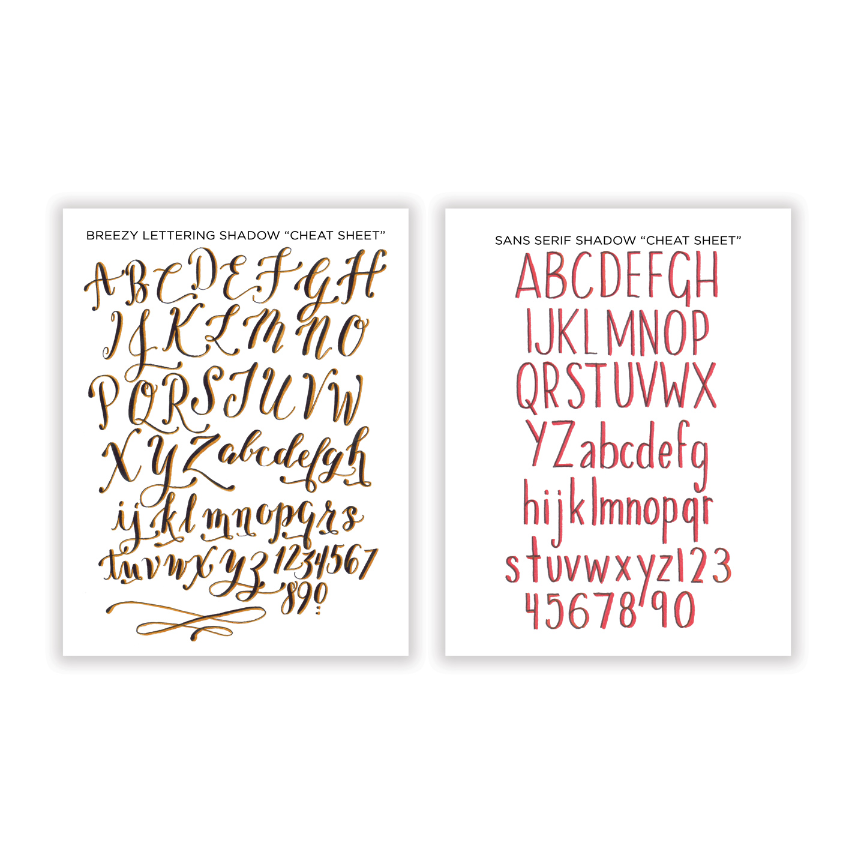 Breezy Sans Serif Free Printable Cheat Sheets