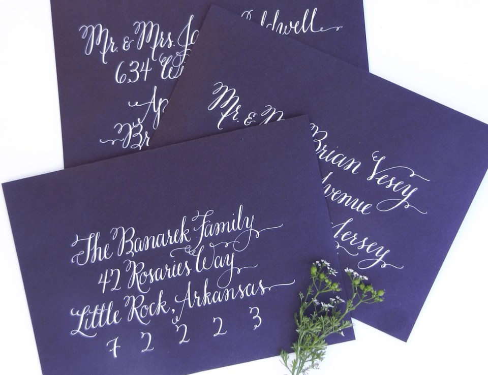 Flourish Formal Style Envelopes   The Postman's Knock