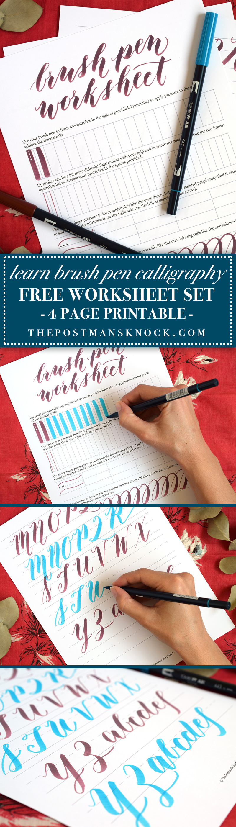 Coloring Worksheets For 1st Grade Free Brush Pen Calligraphy Worksheet  The Postmans Knock Common Core Vocabulary Worksheets with Triangles Worksheet Pdf Free Brush Pen Calligraphy Worksheet Continents Worksheets For Kids Pdf