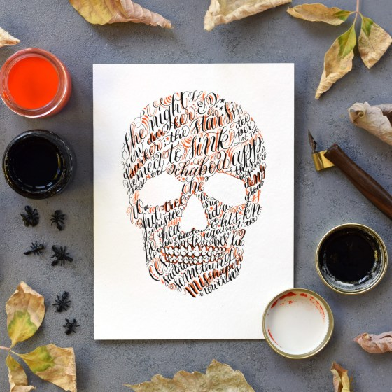 Try using this free printable to make an elegant Halloween card like this one!