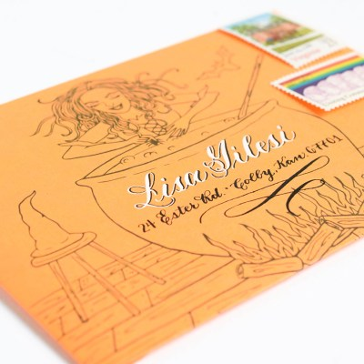 Witch-ed Awesome Halloween DIY Envelope Template {Free Printable}