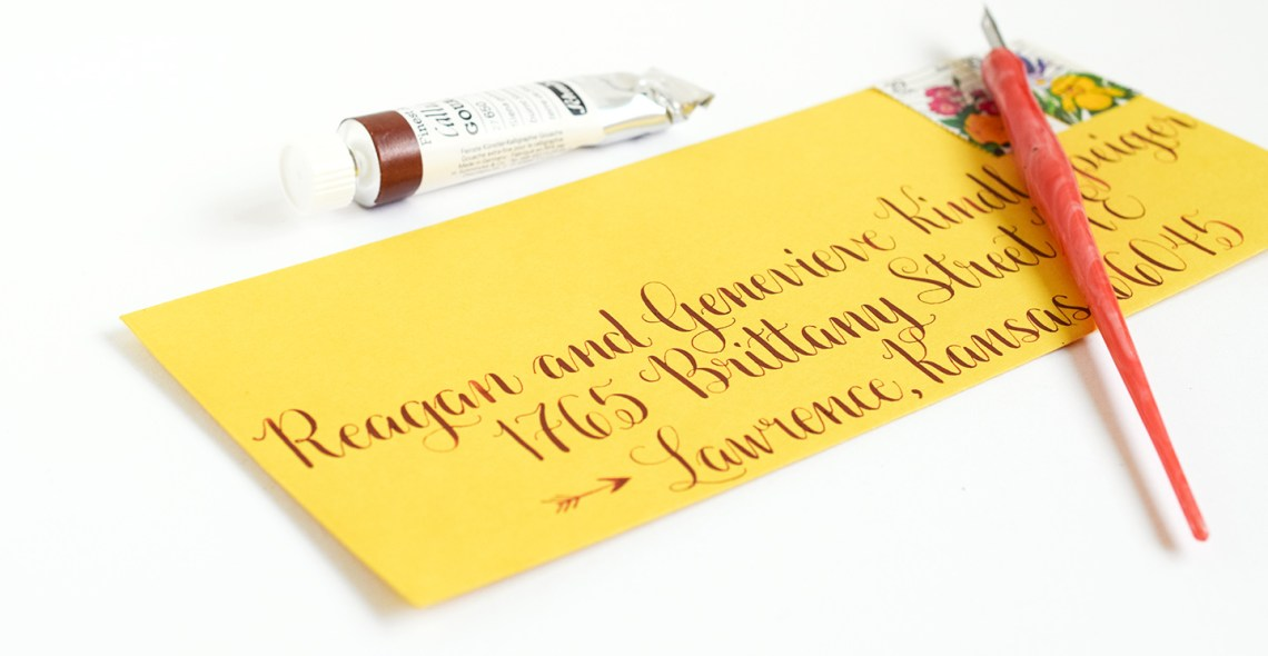 How to Use Gouache to Write Calligraphy | The Postman's Knock