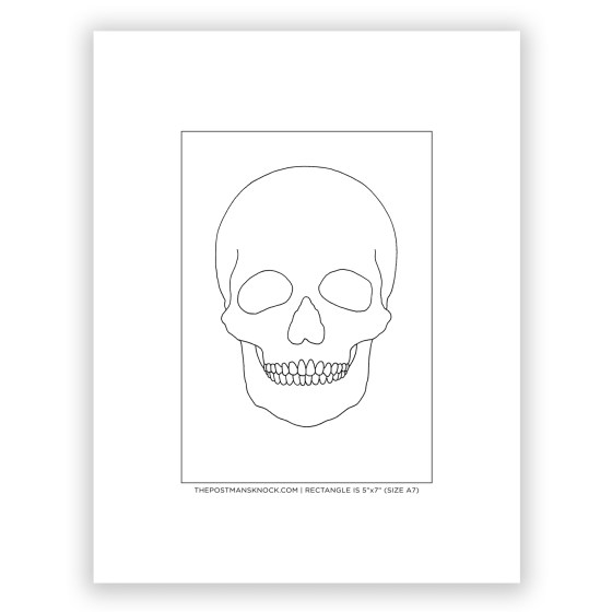 Skull Outline for Tracing (Free) | The Postman's Knock