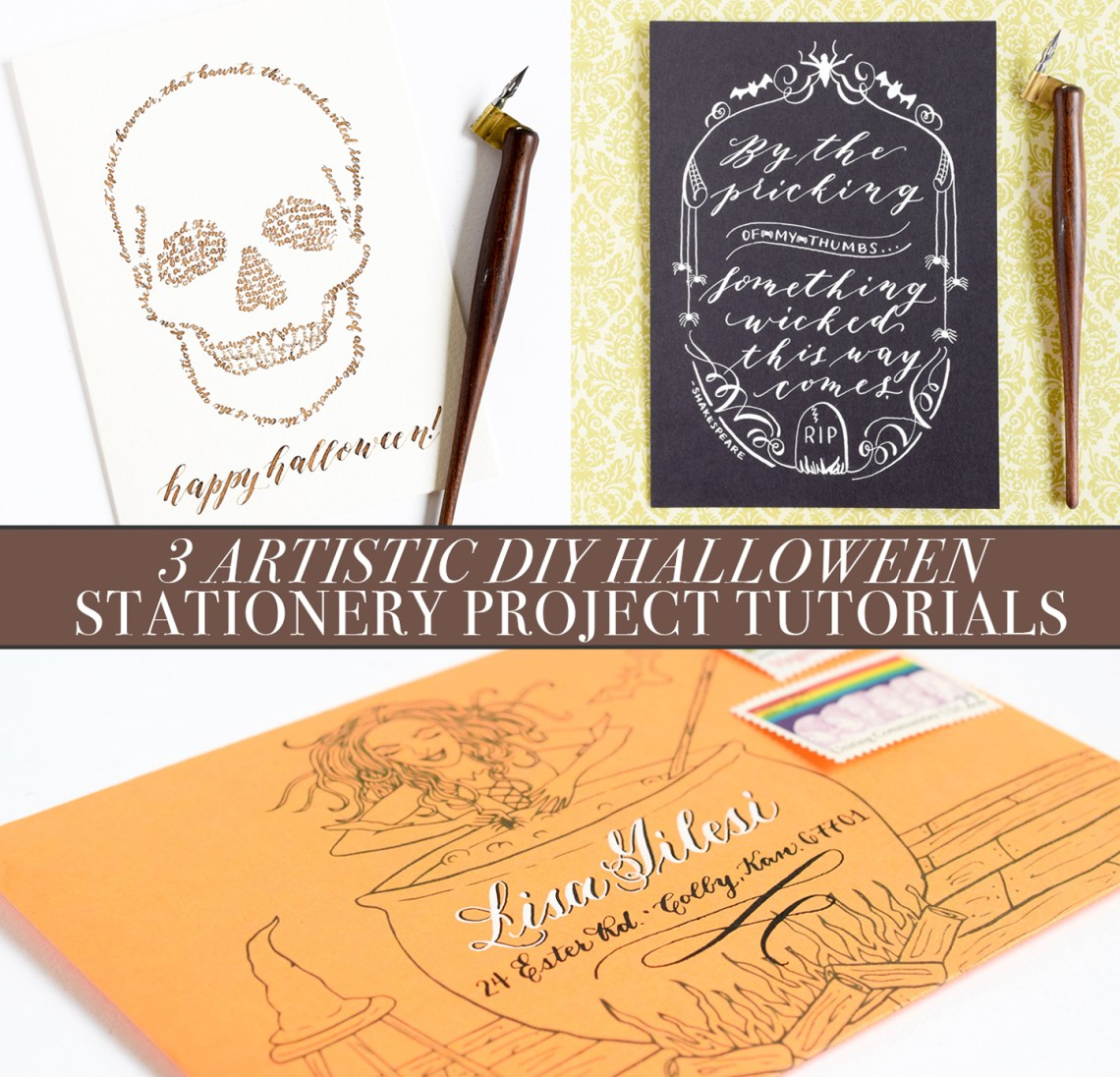 3 Artistic DIY Halloween Stationery Projects | The Postman's Knock
