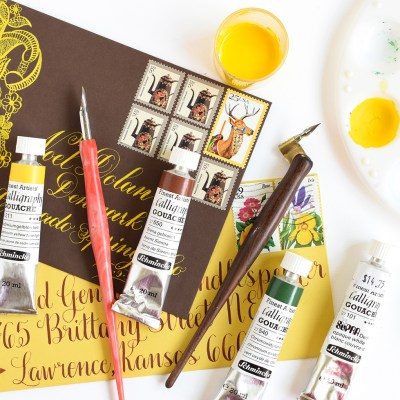 How to Use Gouache to Write Calligraphy