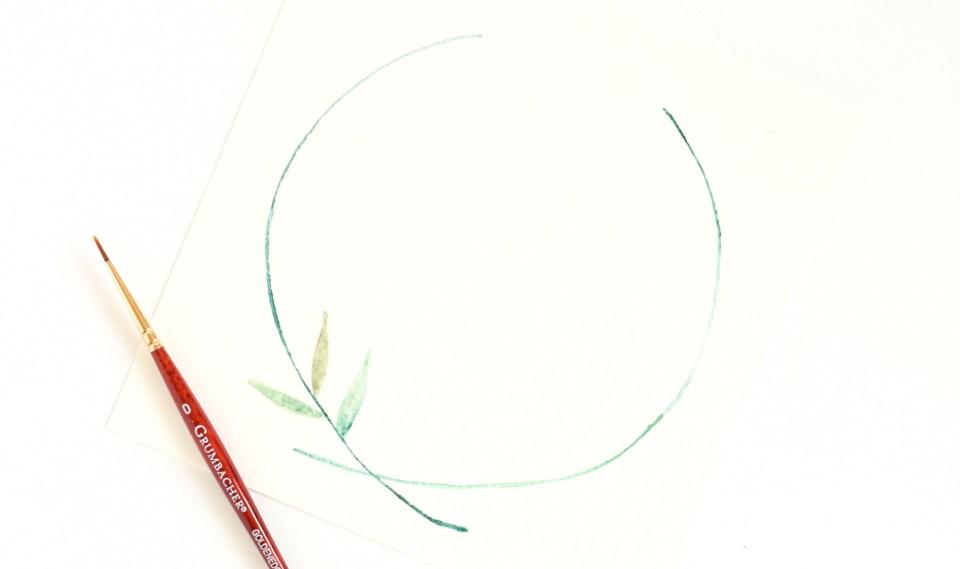 Three Watercolor Leaves Tutorials | The Postman's Knock