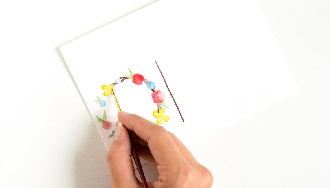 Watercolor Floral Monogram Tutorial | The Postman's Knock