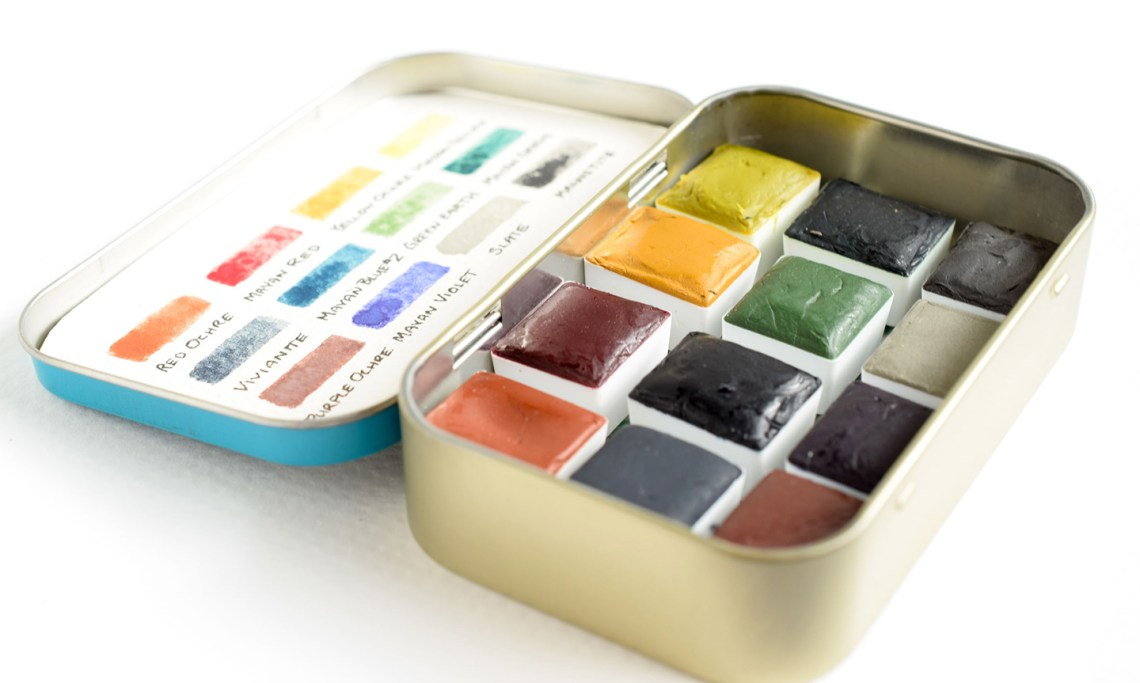Greenleaf & Blueberry Magnetized Watercolor Set | The Postman's Knock