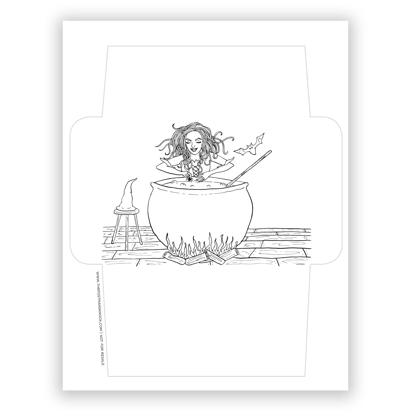 Witch Ed Awesome Printable Envelope Template Free The Postman S