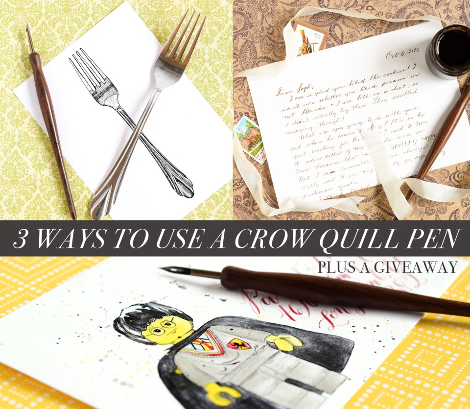 3 Ways to Use a Crow Quill Pen + a Giveaway   The Postman's Knock