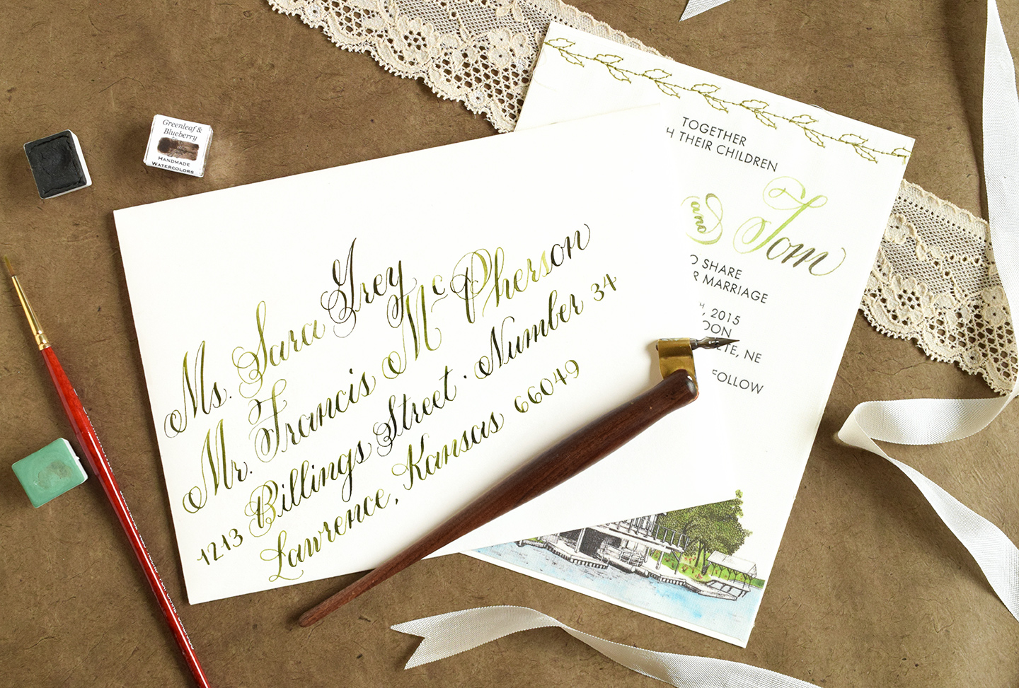 Envelope calligraphy spacing tips and techniques the postman s knock
