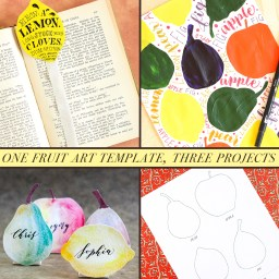 One Fruit Art Template, Three Projects | The Postman's Knock