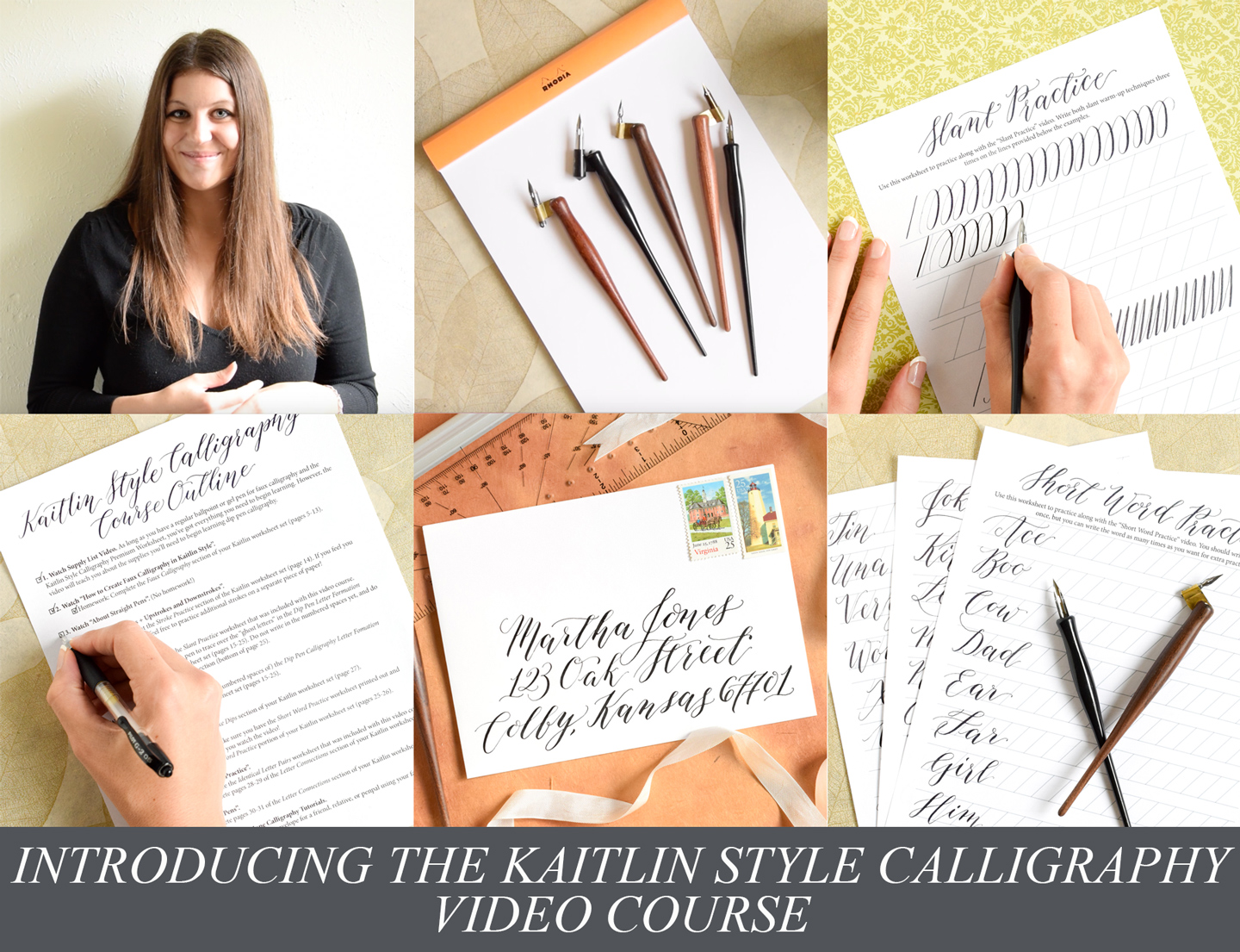 Introducing The Kaitlin Style Calligraphy Video Course