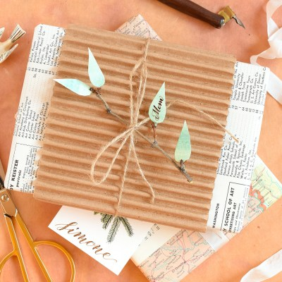 DIY Holiday Gift Tags Tutorial (Part II)