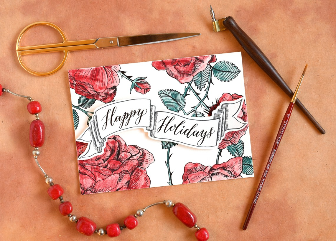 DIY Holiday Card + Artistic Envelope | The Postman's Knock