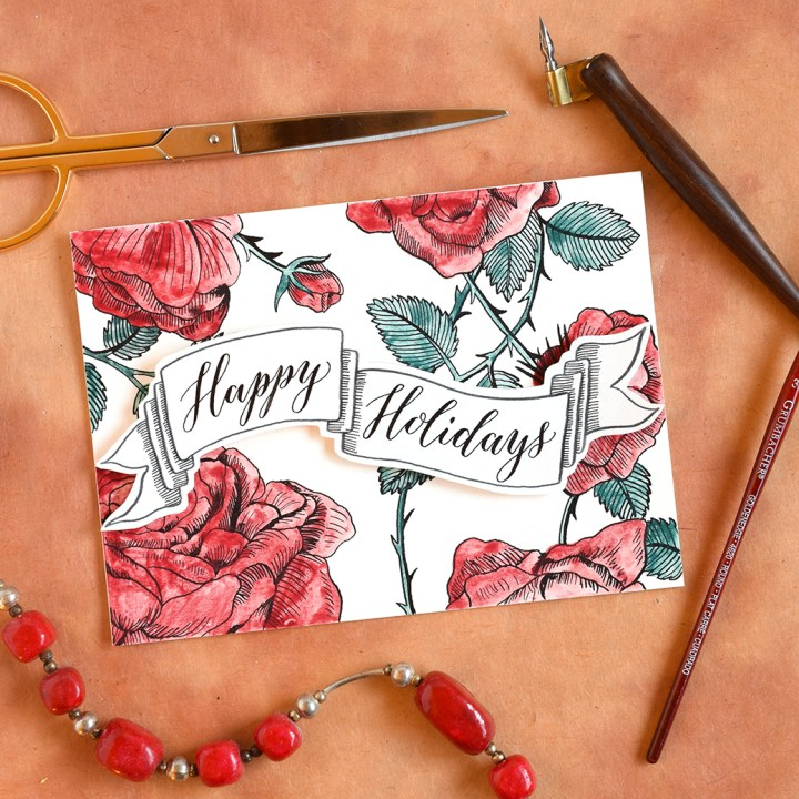 DIY Holiday Card + Artistic Envelope | The Postman's Knock