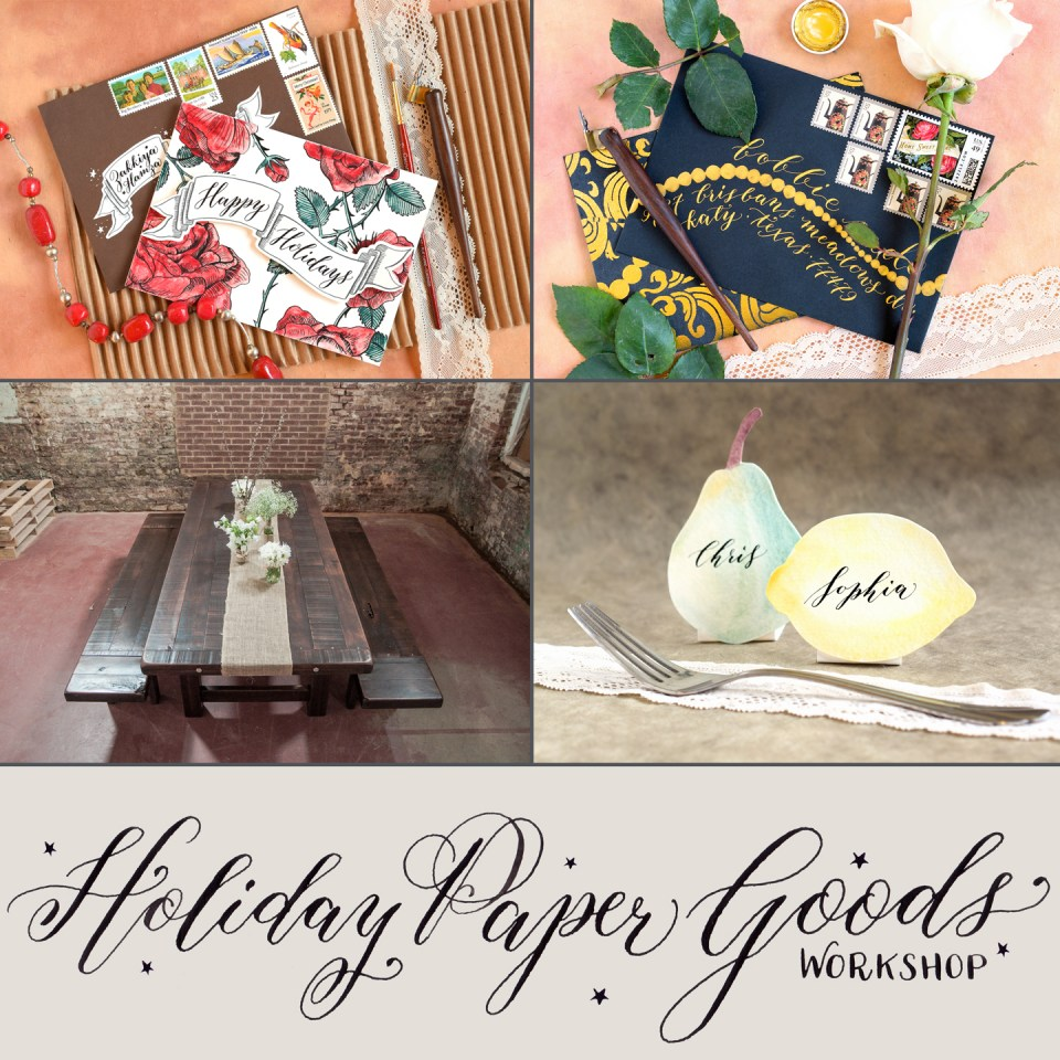 Holiday Paper Goods Workshop | Denver, CO | Dec. 5th |The Postman's Knock