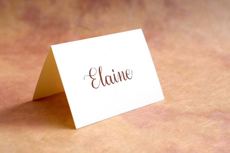 Gouache Place Card | The Postman's Knock