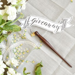 A Holiday Oblique Calligraphy Pen Giveaway! (December 2015)   The Postman's Knock