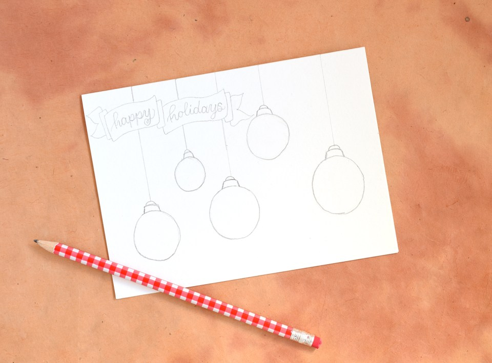 """Artistic Ornaments""-Themed DIY Christmas Card Tutorial 