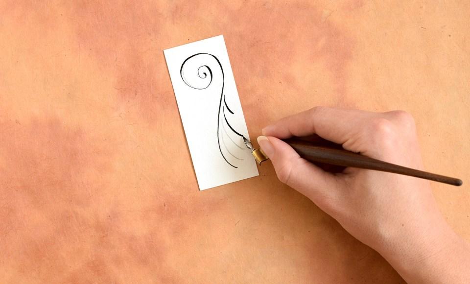 Calligraphy Swirls Tutorials (Part II)   The Postman's Knock
