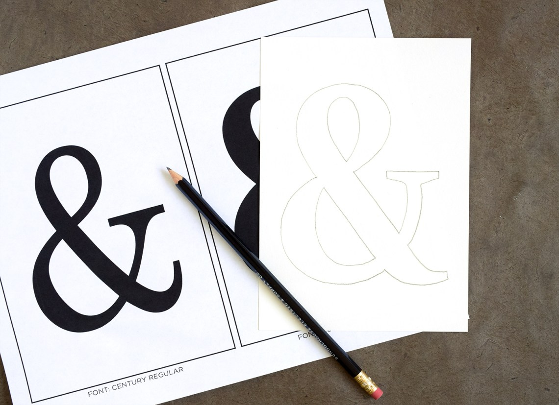 Calligraphy Ampersand Art Tutorial | The Postman's Knock