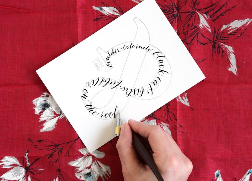 Calligraphy Ampersand Art Tutorial   The Postman's Knock