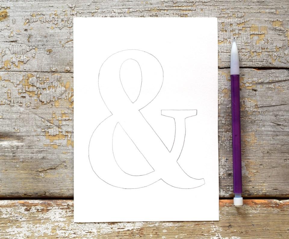 Pencil Ampersand Outline