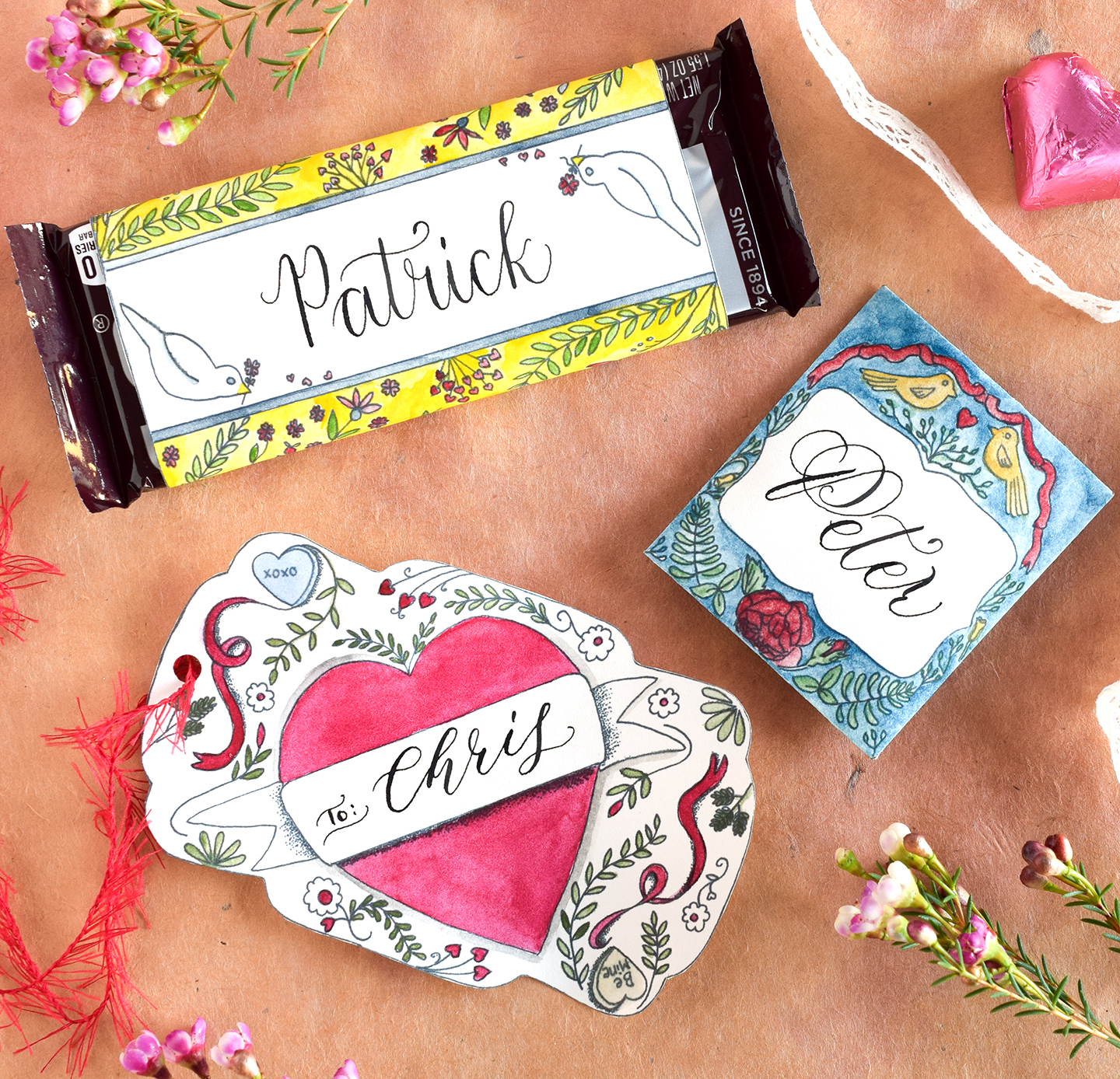 Free Artistic Valentines Day Printables The Postmans Knock