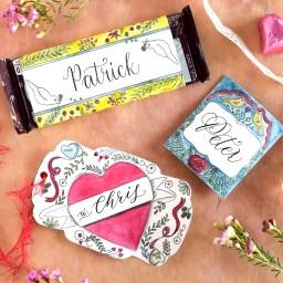 Free Artistic Valentine's Day Printables | Pam Ash Designs via The Postman's Knock