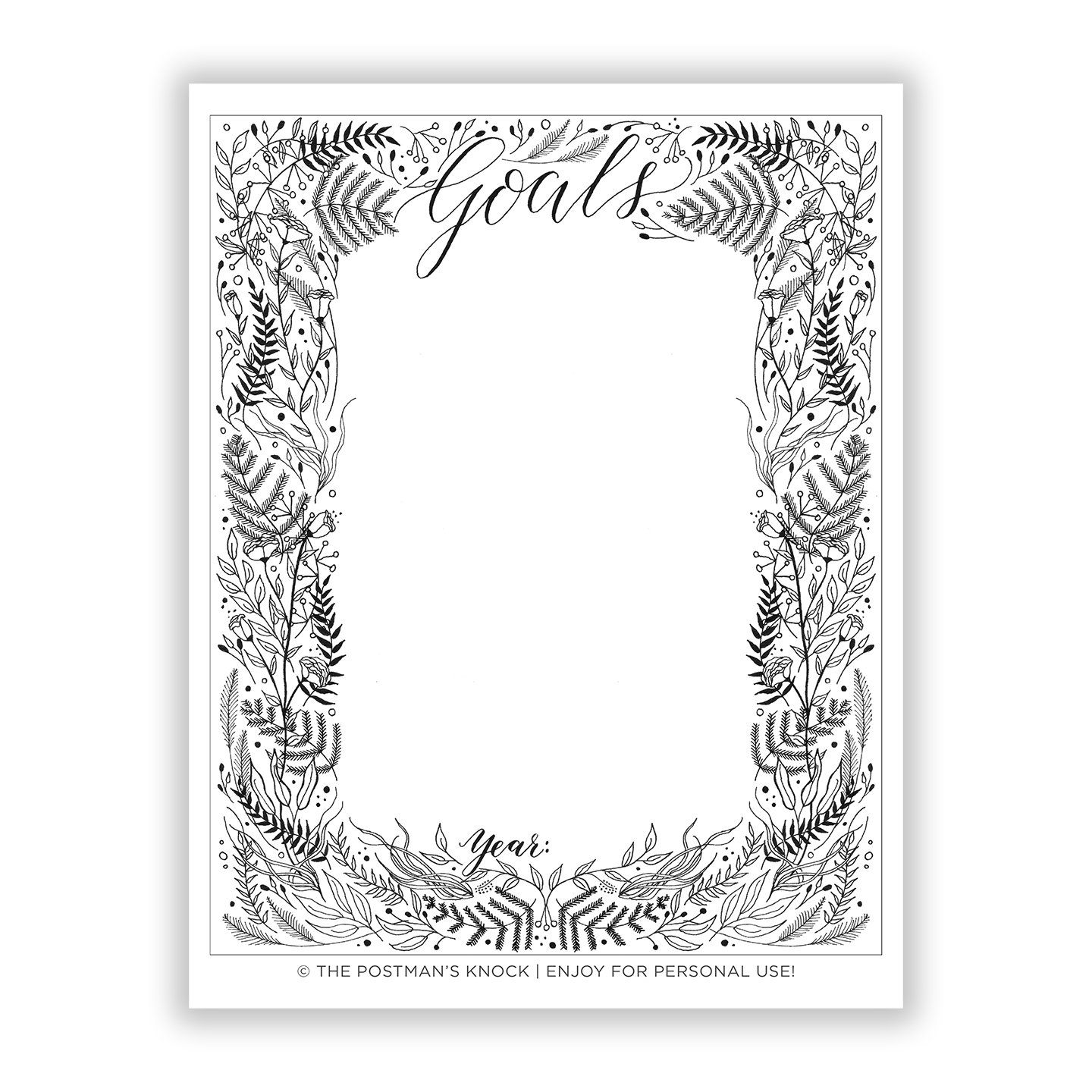 photograph relating to Goal List Printable titled Free of charge Printable Intent Record