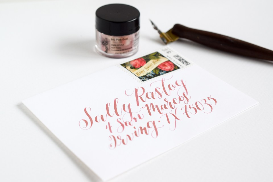 Calligraphy Ink Recommendations: Sparkling Delights (Includes Giveaway)   The Postman's Knock