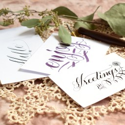 Three Simple Calligraphy Flourishes | The Postman's Knock