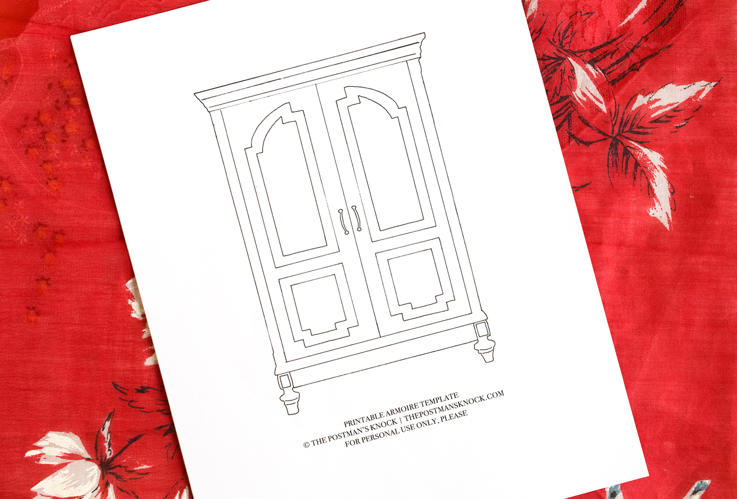 Printable Armoire Template