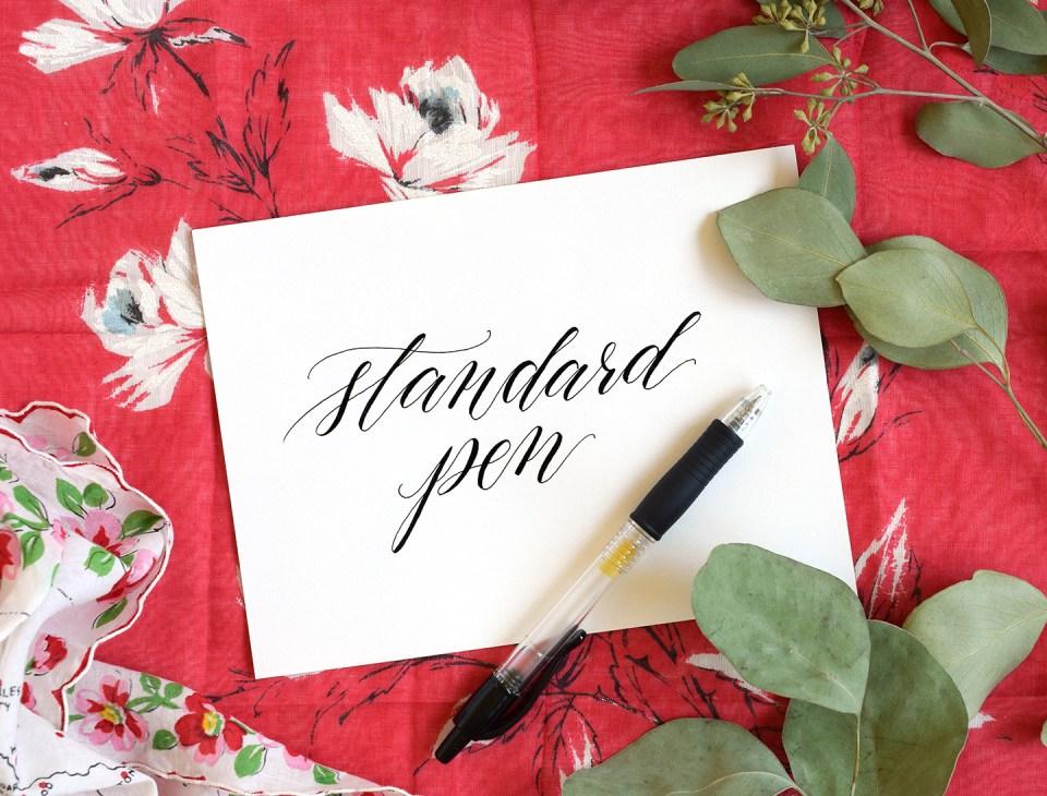 Calligraphy Pen Comparisons: Standard Pen