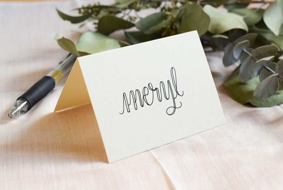 Faux Calligraphy Place Card | The Postman's Knock